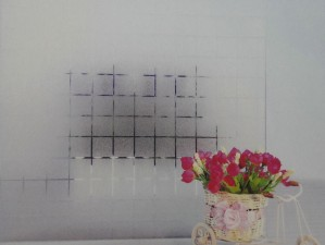 Square Pattern Frosted Glass Film
