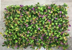 Green and Purple Leaves Tiles for Vertical Garden 60 cm x 40 cm (2.60 Sq.ft) (Pack of 3)