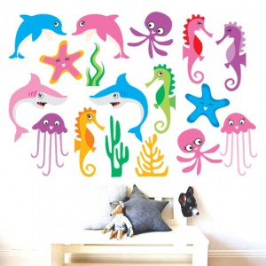 Sea Animals Vinyl Sticker