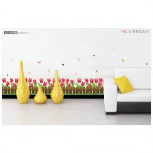 Floral Lawn Wall Sticker