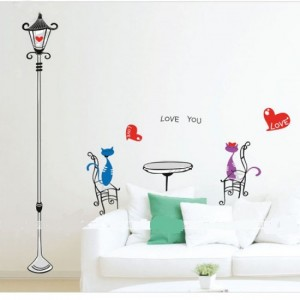 Love Cats Wall Sticker