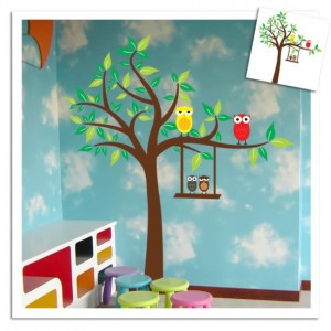 Owl Tree Wall Sticker