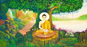 Oil Painting of Buddha