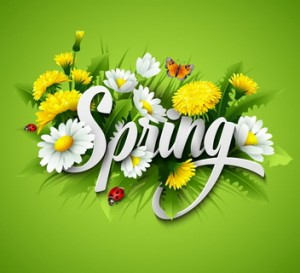 Fresh spring background with grass