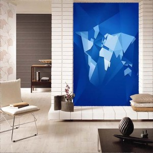 Abstract Facet World Map