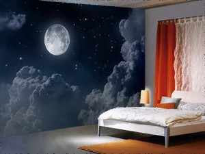 Night Sky With Moon