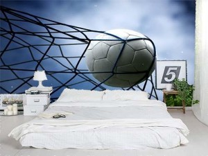 A Soccer Ball in the Goal
