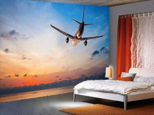 Airplane Flying Above Sea