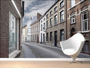 Cityscape of Bruges Streets