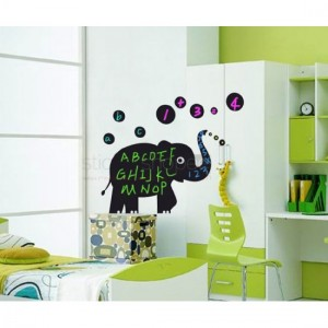 Elephant Chalkboard Stickers
