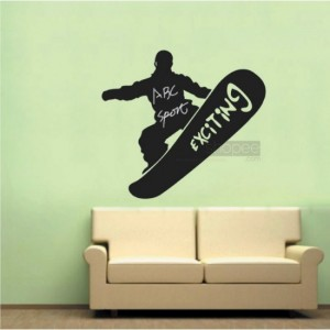 Skating Chalkboard Stickers