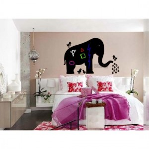 Elephant With Birds Sticker