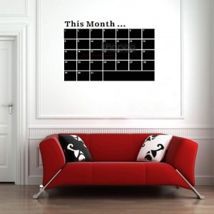Monthly Calendar Decal