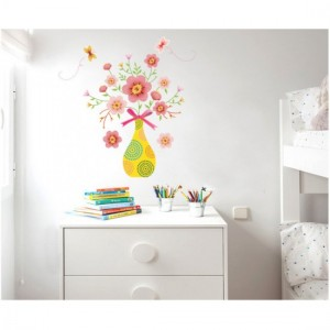 Fower Pot Wall Sticker