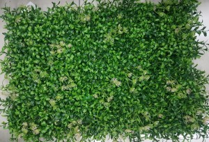 Small Leaves with Tiny Yellow Flowers Tiles for Vertical Garden 60 cm x 40 cm (2.60 Sq.ft) (Pack of 3)