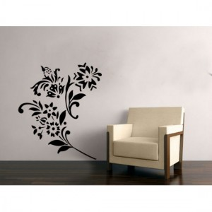 Black Bunch Wall Stickers