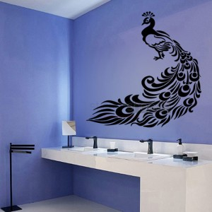 Floral Peacock Decals