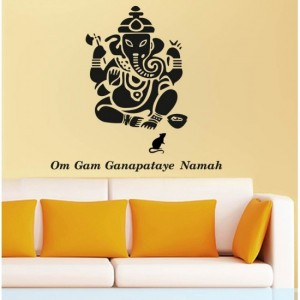 Black Ganesha Vinyl Stickers