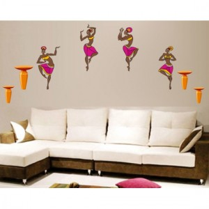 Lady Dancing Vinyl Sticker