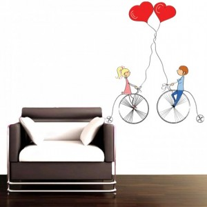 Love Cycle Vinyl Sticker