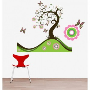 Butterfly Tree Sticker