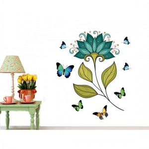 Blue Flower Wall Sticker