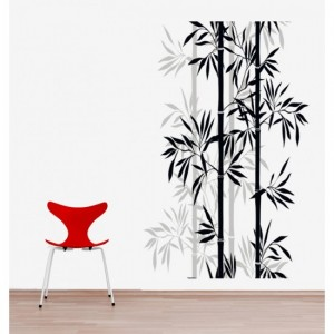 Black Bamboo Wall Sticker