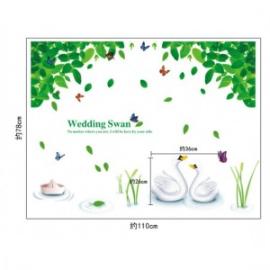 Wedding Swan Sticker