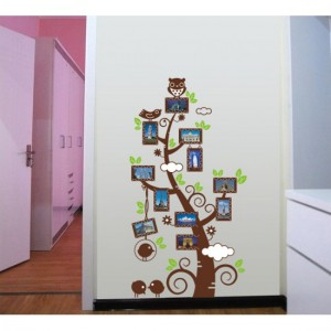 A Photo Tree With Owl