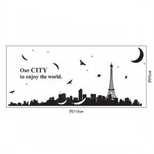 Happy City Wall Sticker