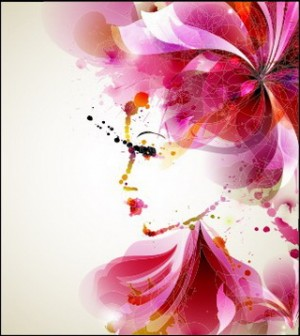 Women With Abstract Design