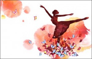 Ballet Girl and Butterfly