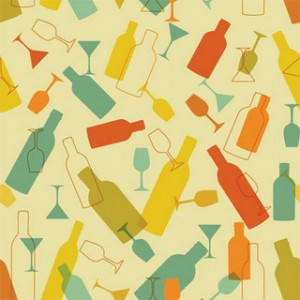 Background With Wine Bottles