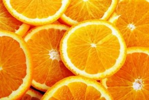 Juicy Oranges Sliced