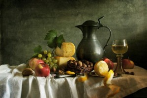 Classical Still With Fruit
