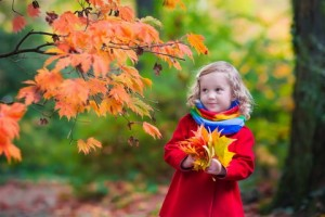 Girl With Yellow Leaf