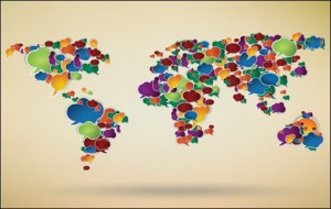 Abstract Design World Map