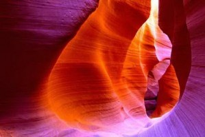 The Antelope Canyon