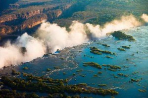 Victoria Falls Seen From the Air