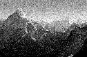 Black and White Mount Everest