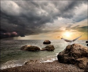 Clouds and Lightning Sea