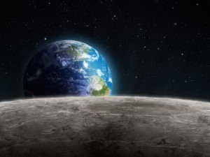 View of the Rising Earth
