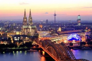 Aerial view on Cologne