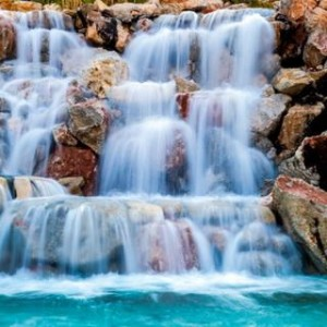 Waterfall With Stone