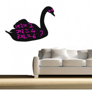 Swan Chalkboard Decal