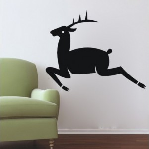 Jumping Deer Decal