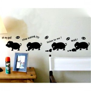Funny Pig Wall Decal