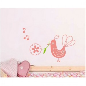 Rose Bird Wall Sticker