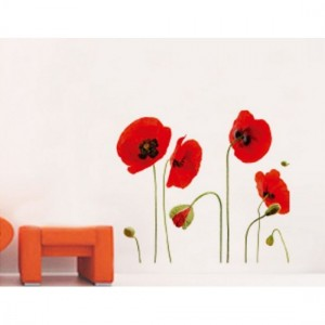 Red Tulips Wall Sticker