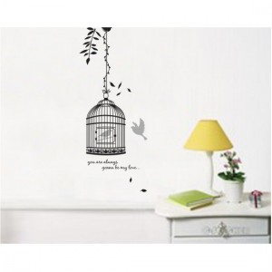 Love Cage Wall Sticker